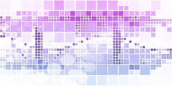 抽象的な ダイナミック デジタル デザイン 技術 背景 ストックフォト © kentoh