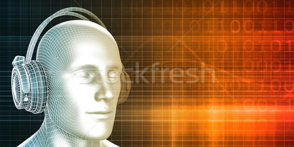 Müzik deneyim ses adam soyut erkek Stok fotoğraf © kentoh