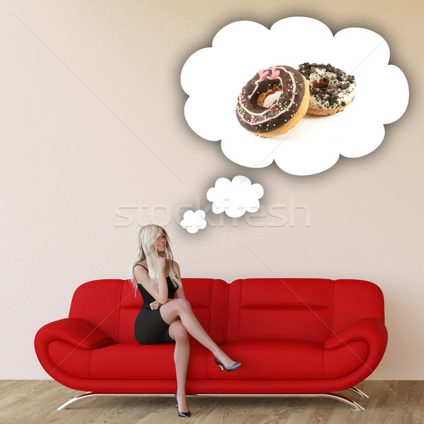 Woman Craving Donuts Stock photo © kentoh