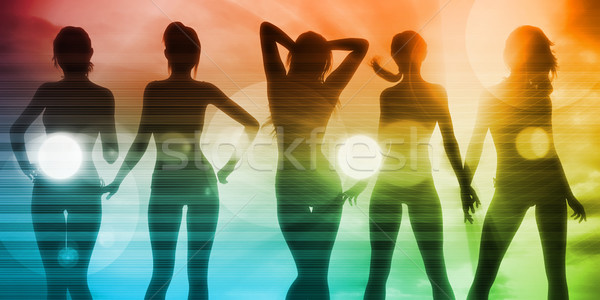 Ladies Going Clubbing Stock photo © kentoh