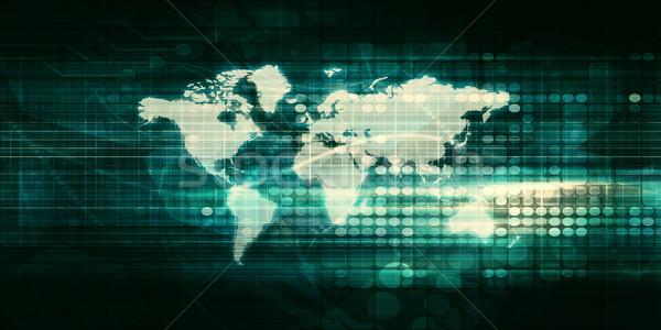 Világszerte üzlet piac weboldal internet földgömb Stock fotó © kentoh