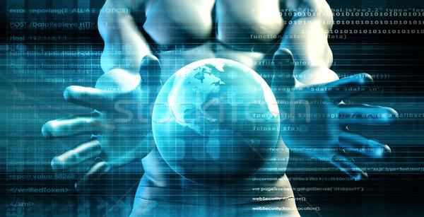 Globális tudomány projekt fejlesztés növekedés üzlet Stock fotó © kentoh