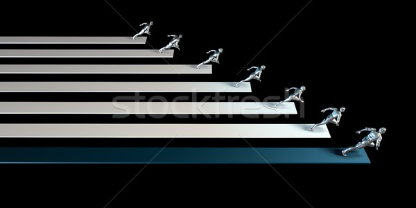 конкурентоспособный преимущество бизнеса конкуренция среде работает Сток-фото © kentoh