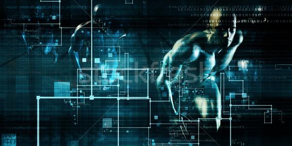 Datos red rápido movimiento ordenador Internet Foto stock © kentoh