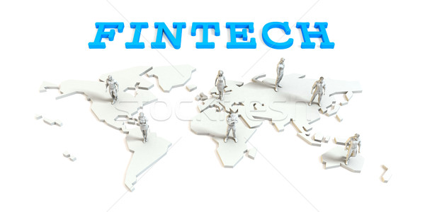 Fintech Global Business Stock photo © kentoh