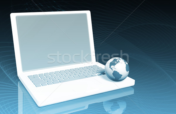 Global de negócios tecnologia rede fundo digital informação Foto stock © kentoh