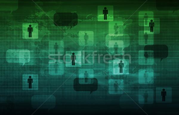 携帯 技術 次 世代 メディア モデル ストックフォト © kentoh