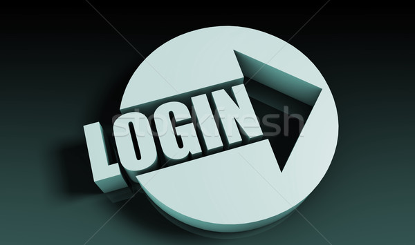 Stock photo: Login
