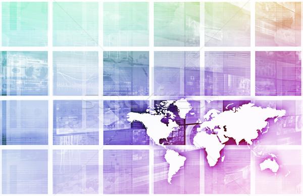 Industrie tendances affaires internet résumé technologie Photo stock © kentoh