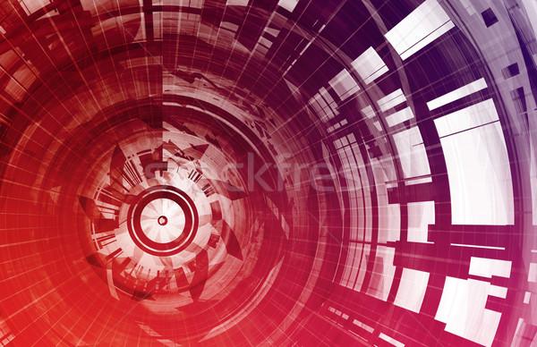 Télécommunications réseau données grille ordinateur réunion Photo stock © kentoh