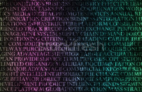 Negocios soluciones resumen pared textura empresarial Foto stock © kentoh