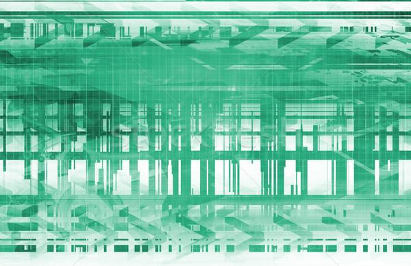 Zaawansowany technologii przemysłowych produkcji komputera strony Zdjęcia stock © kentoh