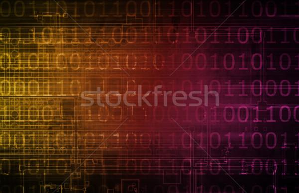 áramlás digitális információ adat internet világ Stock fotó © kentoh