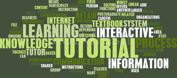 Foto stock: Tutorial · método · aprendizagem · on-line · indústria · aprender
