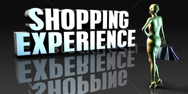 Warenkorb Erfahrung Dame halten Einkaufstaschen Business Stock foto © kentoh
