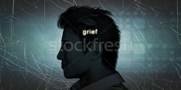 Man Experiencing Grief Stock photo © kentoh