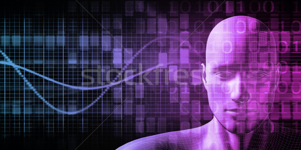 ストックフォト: 人間 · インプラント · 技術 · コンピュータ · ボディ · 健康