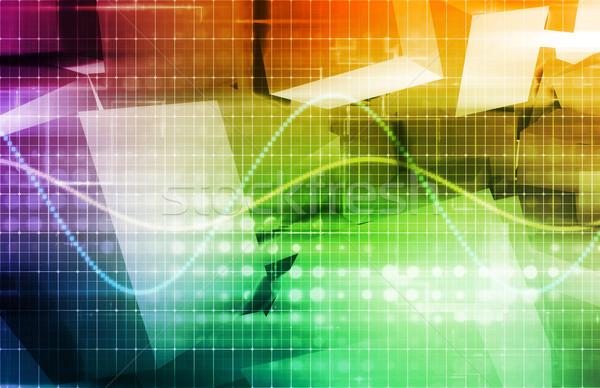 Megfigyelés technológia digitális érzékeny adat absztrakt Stock fotó © kentoh