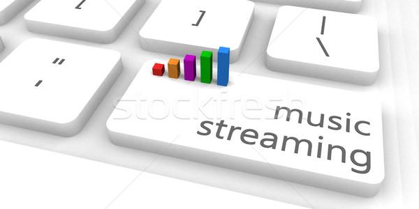 Musica in streaming veloce facile sito business Foto d'archivio © kentoh