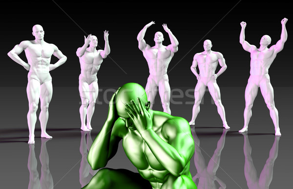 Suffering From Depression Stock photo © kentoh