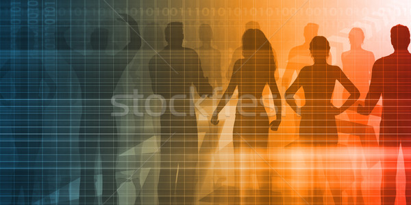 Reclutamiento agencia proceso mano fondo servicio Foto stock © kentoh