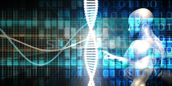 Genetik mühendislik sanayi iş ahlâk teknoloji Stok fotoğraf © kentoh