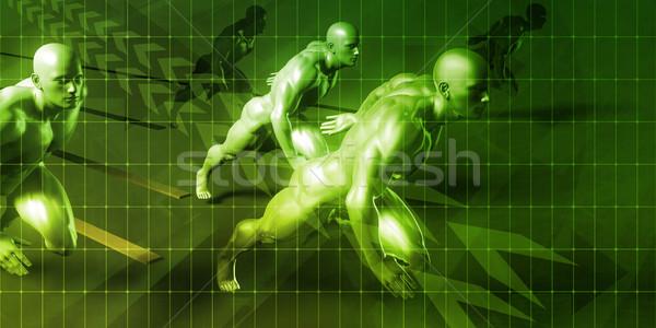 Innovation affaires courir présentation concept Photo stock © kentoh