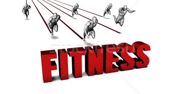 Beter fitness business team racing zakenman lopen Stockfoto © kentoh