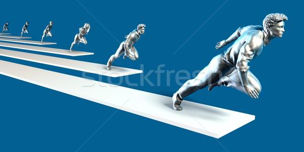 Alto rendimiento centrado individual industria ejecutivo Foto stock © kentoh