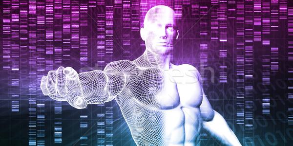 DNS kémia technológia genom absztrakt orvosi Stock fotó © kentoh