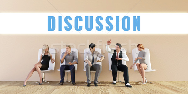 Business Discussion Stock photo © kentoh