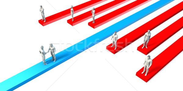 állás kezdeményezés promóció proaktív személyzet gyors Stock fotó © kentoh