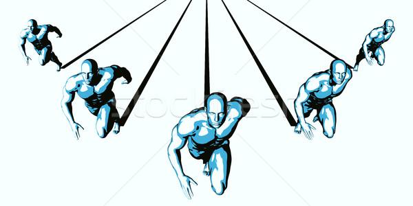 Fluxo de trabalho gestão caminho abstrato educação corrida Foto stock © kentoh