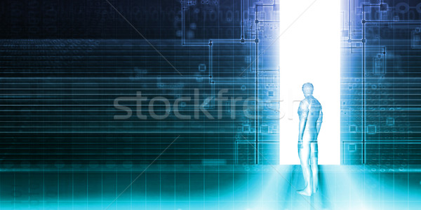 Stepping into the Future Stock photo © kentoh