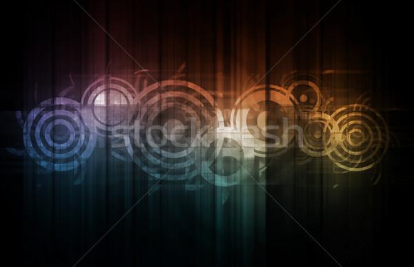 Communicatie corporate nieuwe technologie kunst wereld Stockfoto © kentoh