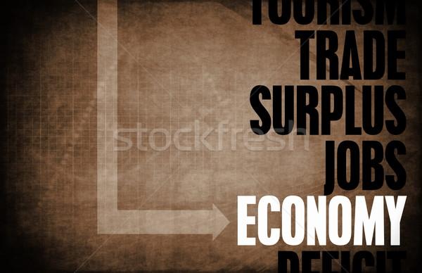 Economia nucleo principi business retro digitale Foto d'archivio © kentoh
