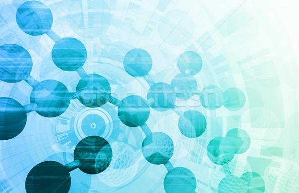 Médicaux recherche fond ventes cellule ADN Photo stock © kentoh
