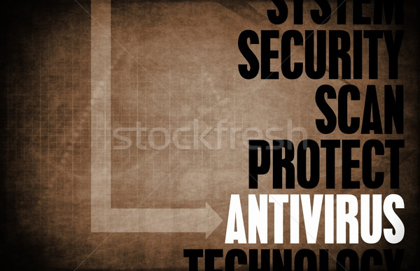 Antivirus nucleo principi business retro software Foto d'archivio © kentoh