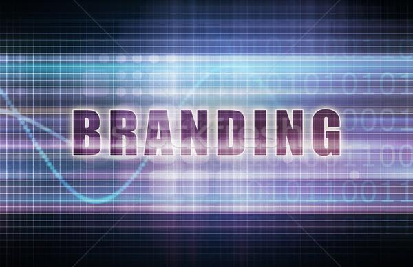 Branding tech działalności wykres sztuki korporacyjnych Zdjęcia stock © kentoh