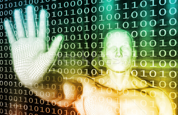 Administratie database onderhoud technologie achtergrond digitale Stockfoto © kentoh