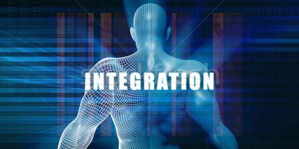 Integración futurista resumen negocios tecnología empresario Foto stock © kentoh