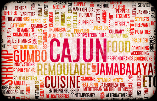 Cajun Food Menu Stock photo © kentoh