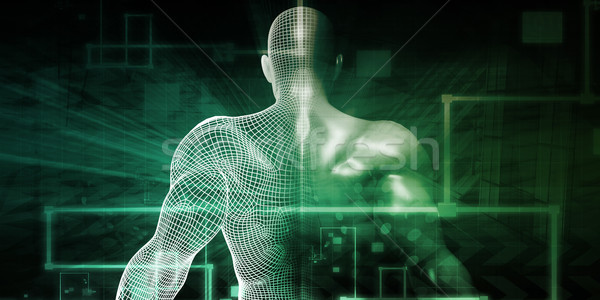 Bilim teknoloji vücut soyut doğa model Stok fotoğraf © kentoh