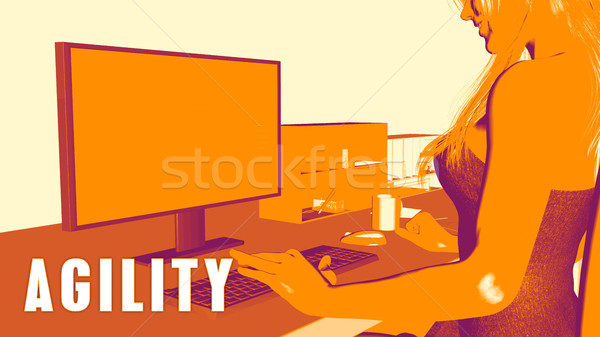 Agility Concept Course Stock photo © kentoh