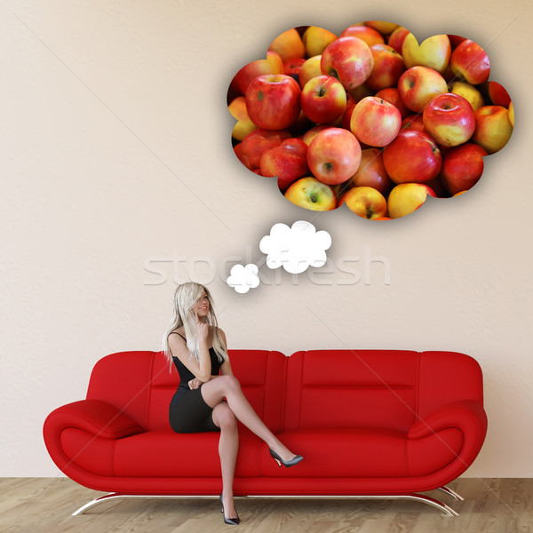 Stock photo: Woman Craving Apples