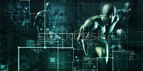 Social media trends grafiek grafiek business mobiele Stockfoto © kentoh