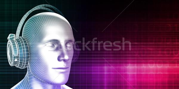Musik Erfahrung Sound Mann abstrakten Hintergrund Stock foto © kentoh