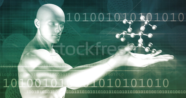 Számítástechnika absztrakt művészet internet terv háttér Stock fotó © kentoh