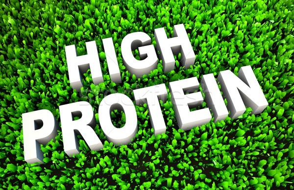 Alto proteína dieta alimentos resumen fitness Foto stock © kentoh