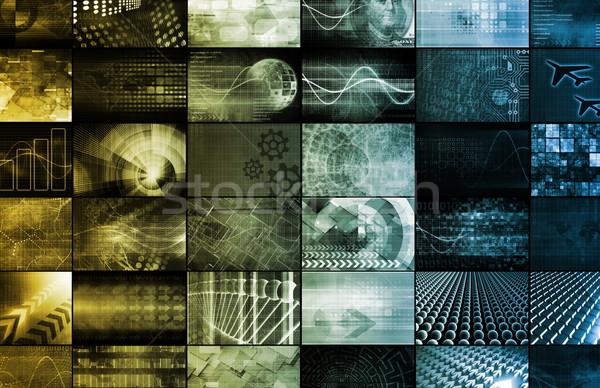 Global Digital Technology Concept Stock photo © kentoh